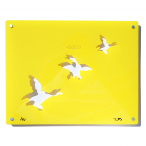 3 Ducks - Signed limited edition Acrylic Wall Art - Yellow